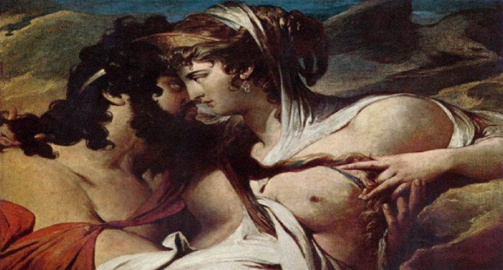 Юпитер и Юнона на горе Ида. Художник Джеймс Барри